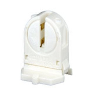 Leviton 23654-SWP Fluorescent Lampholder, Miniature Base, Snap-In, White, T5 Bi-Pin