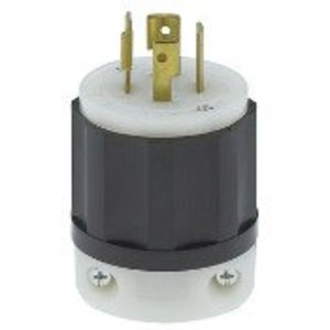 Leviton 2421 Locking Plug, 20A, 3PH 250V, L15-20P, 3P4W