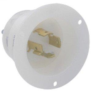 Leviton 2425 Locking Flanged Inlet, 20A, 3PH 250V, 3P4W