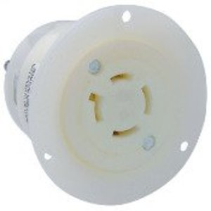 Leviton 2426 Locking Flanged Outlet, 20A, 3 PH 250V, 3P4W