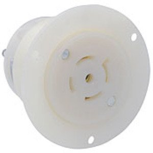 Leviton 2516 Locking Flanged Outlet, 20A, 3PH Y 120/208V, 4P5W