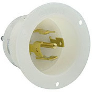 Leviton 2815 30 Amp, 120/208 Volt, NEMA L21-30P Receptacle, White