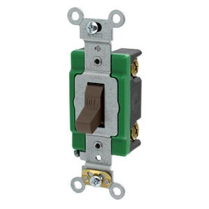 Leviton 3031-2 Single-Pole Toggle Switch, 30A, 120/277V, Brown, Specification Grade