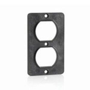 Leviton 3051-E Duplex Receptacle Coverplate, Black