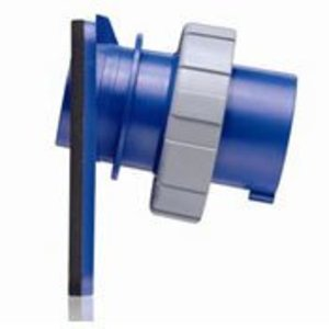Leviton 330B6W Pin & Sleeve Inlet, 30A, 250V, Blue