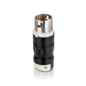 Leviton 3765C Locking Plug, Non-NEMA, 50A 250VDC/600VAC, 3P4W