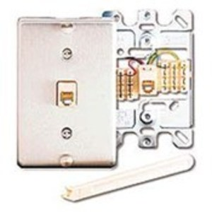 Leviton 40226-S Wallplate, Telephone Jack, 1-Gang, Type 630A, 6P6C, Stainless Steel