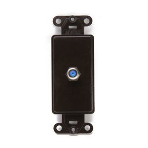 Leviton 40681-B Wallplate Insert, Decora, F-Connector, Brown
