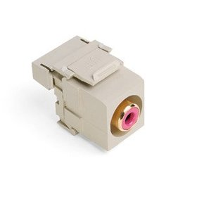 Leviton 40735-RRI RCA-110 QuickPort Snap-In Connector, Ivory