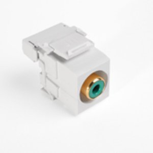 Leviton 40735-RVW RCA-110 QuickPort Snap-In Connector, Green