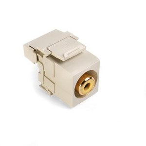 Leviton 40735-RYI RCA-110 QuickPort Snap-In Connector, Ivory