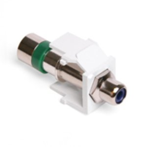 Leviton 40782-RLW RCA Compression Connector, RG6 Quad, Blue