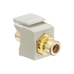 Leviton 40830-BIY Ivory RCA Speaker Snap-In Adapter