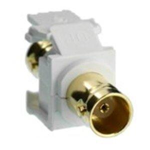 Leviton 40832-BW Adpt Bnc Gold White