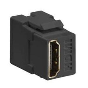 Leviton 40834-E HDMI Connector, Feedthrough, QuickPort, Black