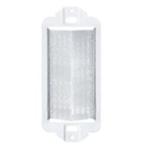 Leviton 41075-DBW Wallplate, Insert, Decora, Brush, Passthrough, White