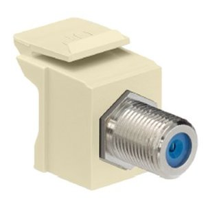 Leviton 41084-FTF F-Type Adapter, Light Almond, Nickle Plated