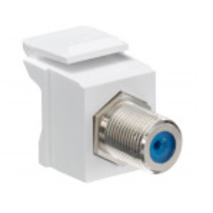 Leviton 41084-FWF F-Type Adapter, Nickle Plated, White