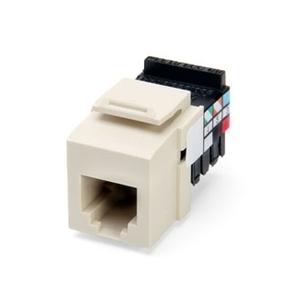 Leviton 41106-RI6 Snap-In Connector, QuickPort, Voice Grade, 6P6C, Ivory