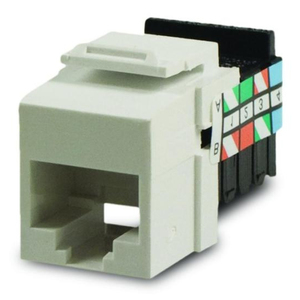 Leviton 41106-RW6 Snap-In Connector, QuickPort, Voice Grade, 6P6C, White