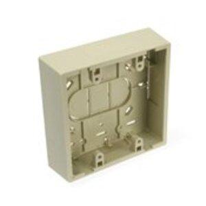Leviton 42777-2IB Surface-Mount Back Box, Dual-Gang, Ivory, Fire Retardant  Phenolic
