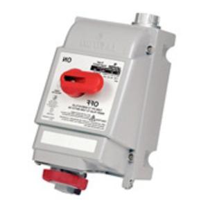 Leviton 430MI7W 30A, 480V, 3 Phase, Mech. Interlock, Red