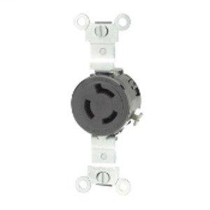 Leviton 4560 Locking Single Receptacle, 15A, 250V, 2P3W