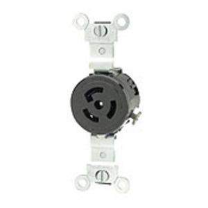 Leviton 4710 Locking Receptacle, 15A, 125V, L5-15R, 2P3W