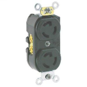 Leviton 4750 15 Amp, 277 Volt, NEMA L7-15R Duplex Receptacle