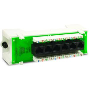 Leviton 47605-C5B Expansion Board, Cat 5E, Voice Date, Stand Alone Module, 6 Ports
