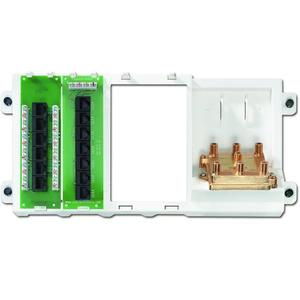 Leviton 47606-BNP Cabling Panel, 4 Line Telephone, 7 Connections, 6-Way Video, 2GHz