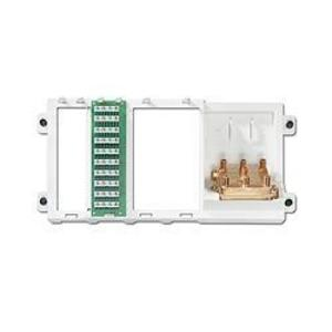 Leviton 47606-BTV Cabling Panel, 4 Line Telephone, 9 Connections, 6-Way Video, 2GHz
