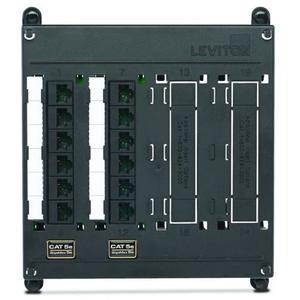 "Leviton 476TM-512 Patch Panel, Twist & Mount, 12 Port, CAT 5e, 7"" H x 6.54"" W"