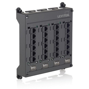 Leviton 476TM-612 Twist & Mount Patch Panel 12 CAT 6 Ports