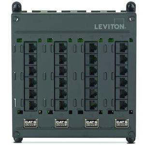 Leviton 476TM-624 Twist & Mount Patch Panel 24 CAT 6 Ports