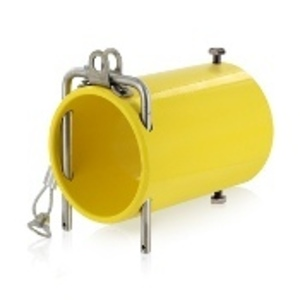 Leviton 49COP-Y In-Line Coupler for Connectors, Powder Coated Aluminum, Yellow