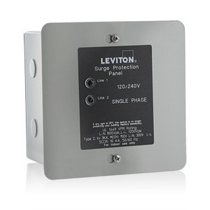 Leviton 51120-1 Surge Protective Device, 120/240V, 50 kA, Load Center, 1PH