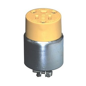 Leviton 515CA 15 Amp Armored Connector, Yellow