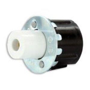 Leviton 516 Fluorescent Lampholder, High-Output, Single Pin, White