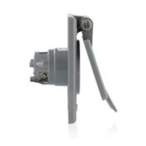 Leviton 5279-CWP 15 Amp Integrated Power Flanged Outlet 125V, 5-15P, Standard Wells