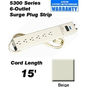 Leviton 5300-S15 Strip Power Ig 15a 15'