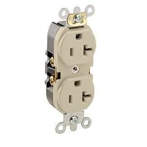 Leviton 5362-SI Duplex Receptacle, Ivory, Commercial Grade
