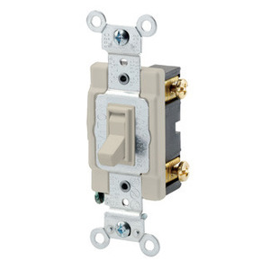 Leviton 54521-2I 1-Pole Switch, Framed Toggle, 20A, 120/277V, Ivory, Side Wired