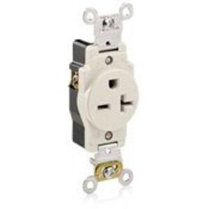 Leviton 5461-T Single Receptacle20A, 250V, 6-20R, Light Almond