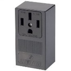 Leviton 55050 50 Amp Surface Mount Receptacle, 125/250V, 14-50R, 3P4W