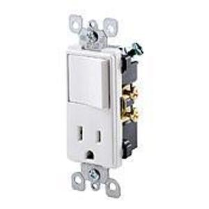 Leviton 5625-W 15 Amp Decora Combination Switch, White