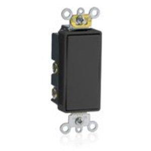 Leviton 5685-2E Decora Switch, 15A, 120/277V, Maintained, 1-Pole, Double Throw, Black