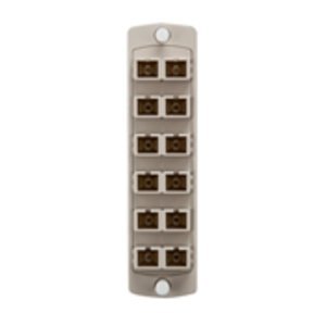 Leviton 5F100-2IC Adapter Plate, 12 Fibers, Beige