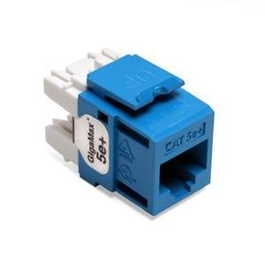 Leviton 5G110-RL5 Snap-In Connector, Cat 5e+, Blue