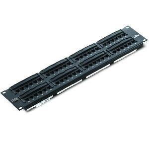 Leviton 5G596-U48 Patch Panel, Flat 110-Style, 2RU, 48-Port, Category 5e